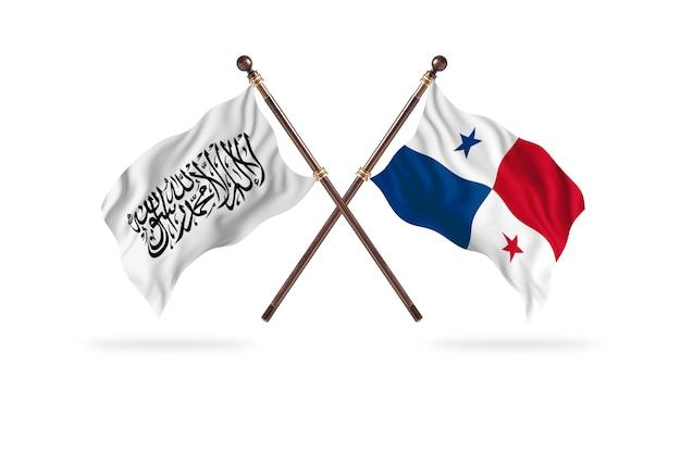 Islamski emirat afganistanu kontra panama dwie flagi w tle