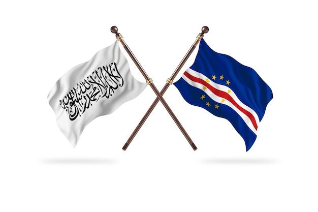 Islamski emirat afganistanu kontra republika zielonego przylądka tło dwie flagi