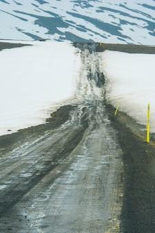 Islandia krajobraz droga pole
