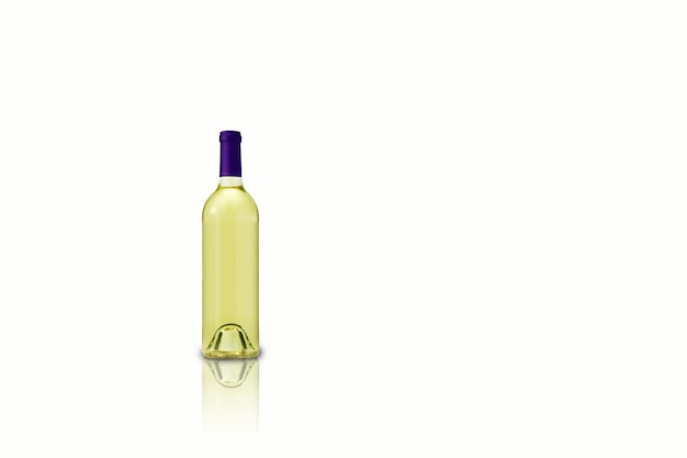 Izolowane różne butelki wina na białym tle, nadające się do projektowania renderowania element.3d.