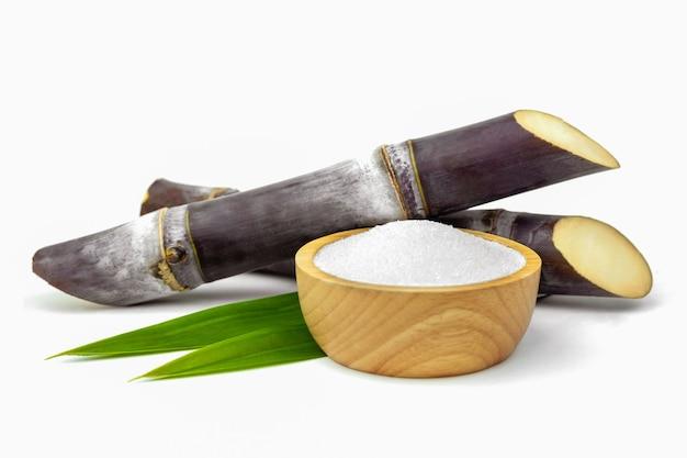 Izolowanie trzciny cukrowej na białym tle