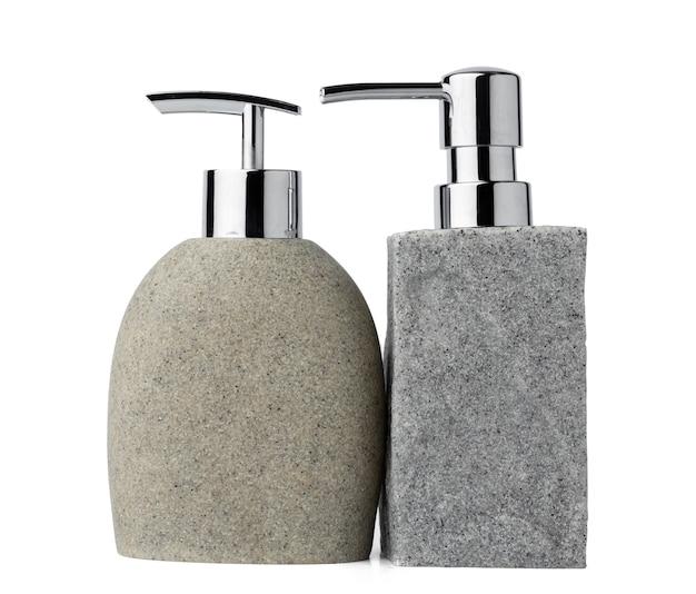 Izolowany ceramiczny dozownik mydła w kształcie kamienia