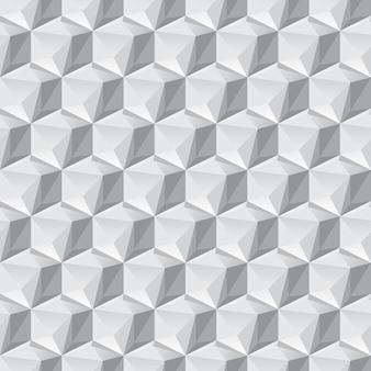 Izometryczne tło 3d z kostkami. futurystyczny wzór geometryczny. złudzenie optyczne objętości