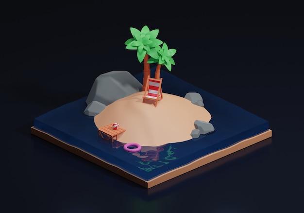 Izometryczny projekt wyspy letniej