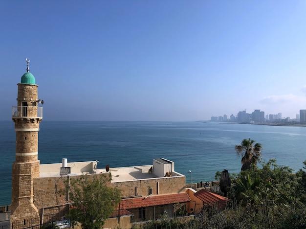 Izrael. piękne miejsca tel awiwu. stary obszar miasta jaffa