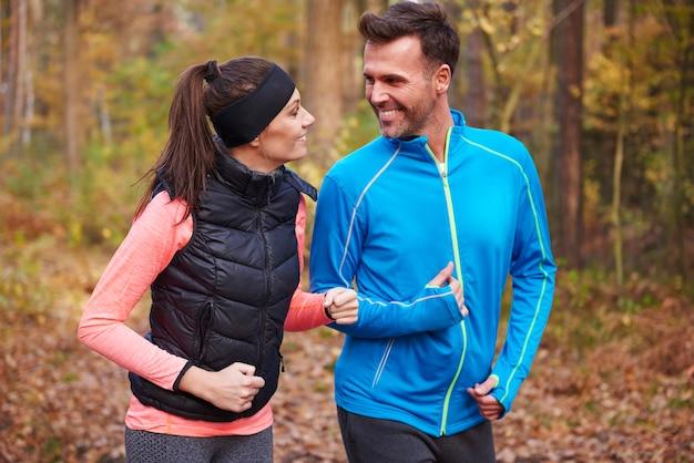 Ja i mój mąż w biegu