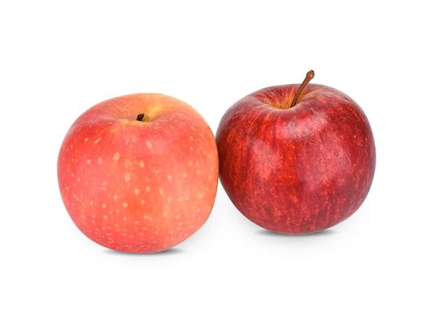Jabłka cameo na białym tle.