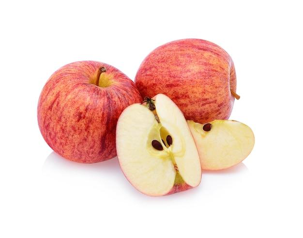 Jabłka gala izolują na białym tle