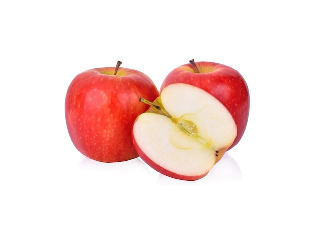 Jabłko na białym tle