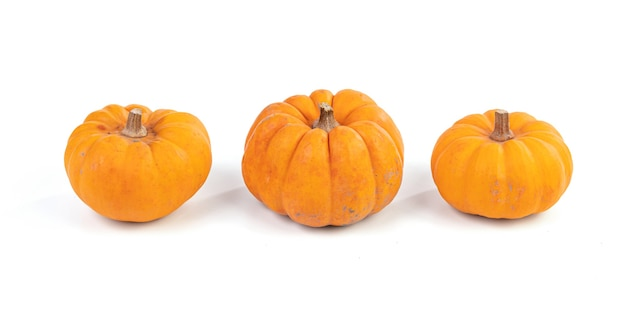 Jack be little, pomarańczowy dynia na białym tle