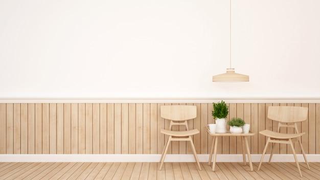 Jadalnia w kawiarni lub restauracji - rendering 3d