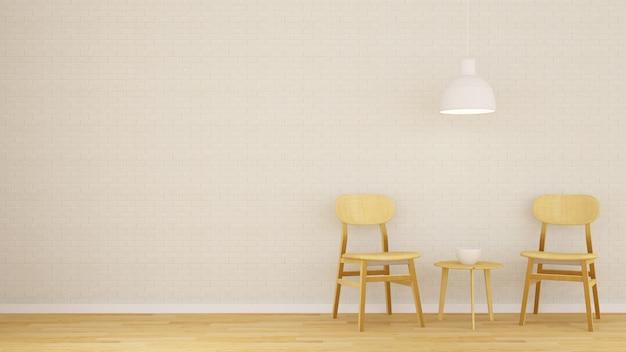 Jadalnia w kawiarni lub restauracji - renderowanie 3d