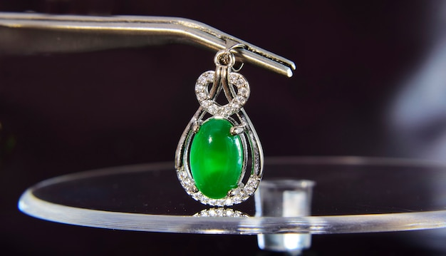 Jadeitowa zielona jadeitowa biżuteria
