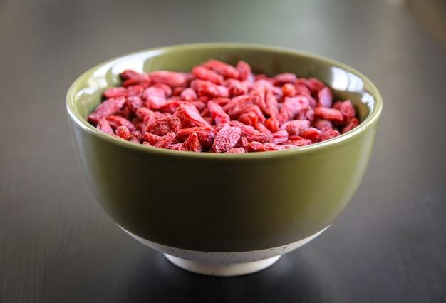 Jagody goji suszone pożywienie