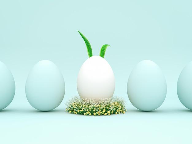 Jaja wielkanocne dekoracji renderowania 3d w tle