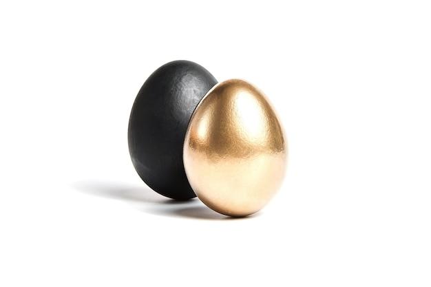Jajka czarne i złote