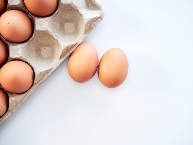 Jajko kurze na białym tle