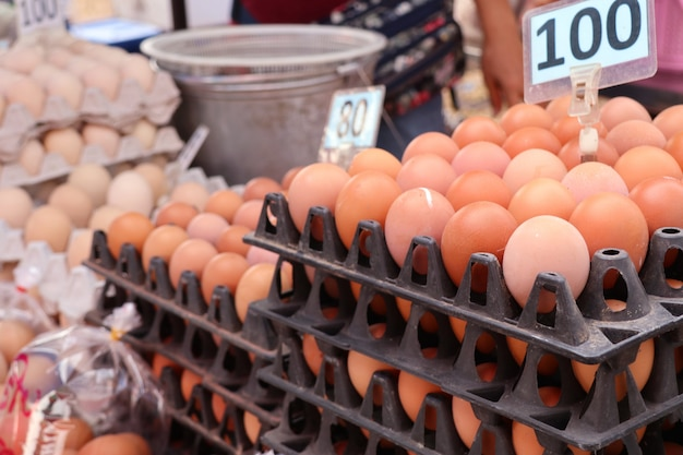 Jajko kurze na rynku