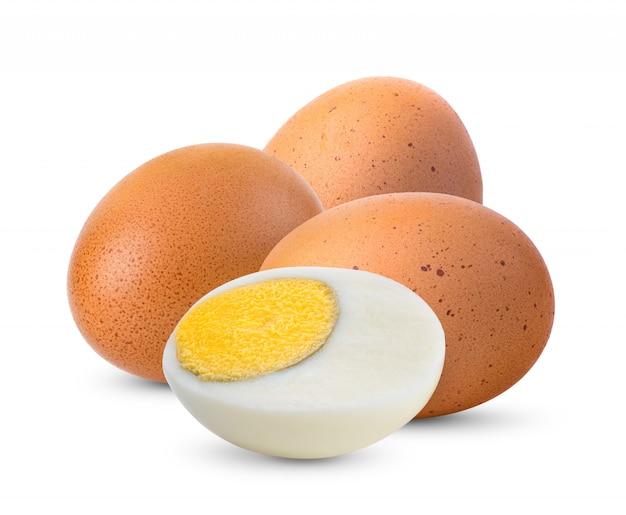 Jajko na białym tle