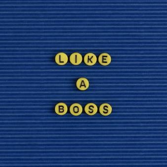 Jak alfabet koralików słowo szefa