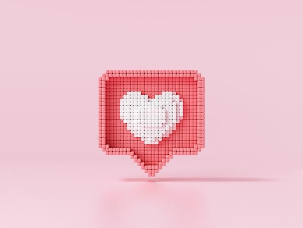 Jak ikona serca na różowym tle