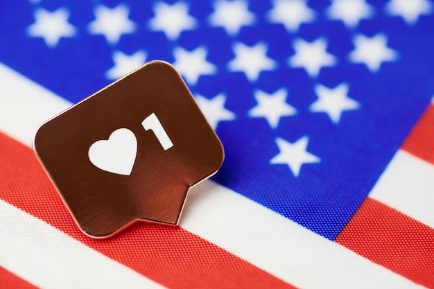 Jak symbol na fladze usa. lubię naród amerykański