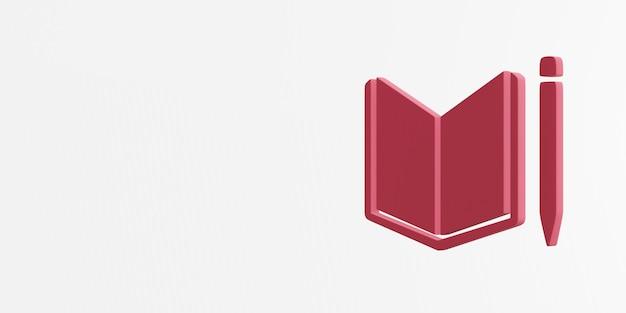 Jakość edukacji ikona renderowania 3d