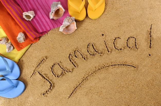 Jamajka plaża tło