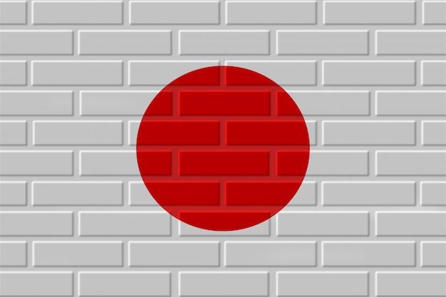 Japonia flaga ilustracja cegła