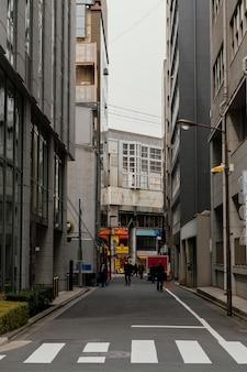 Japonia ulica i budynki w ciągu dnia