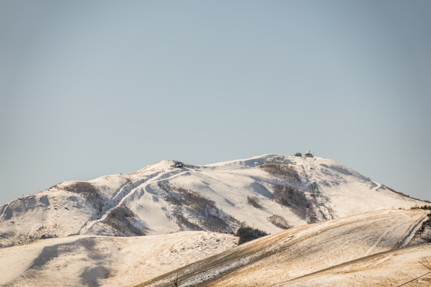 Japonia winter mountain (filtrowany obraz przetwarzany rocznika efekt