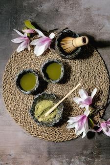 Japońska zielona herbata matcha