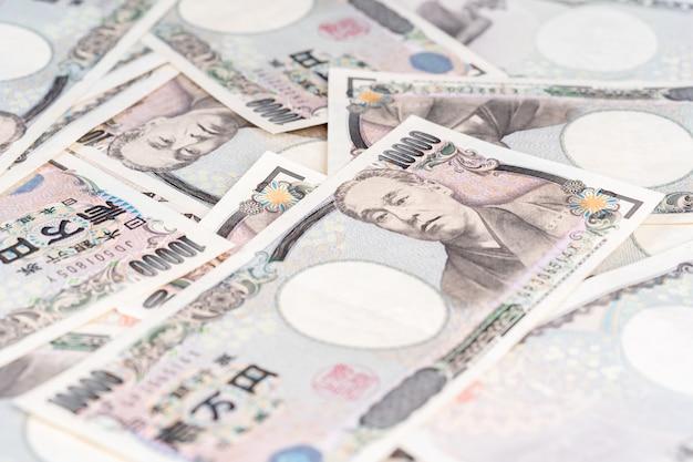 Japoński banknot, jen jest oficjalną walutą japonii
