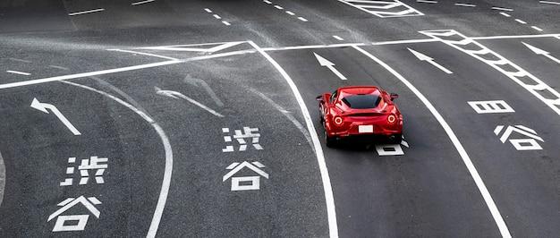 Japoński krajobraz miejski samochód