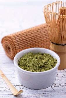 Japoński proszek zielonej herbaty matcha