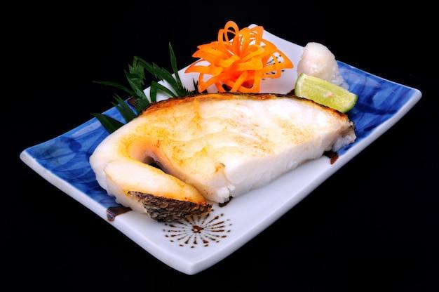 Japoński stek sablefish.