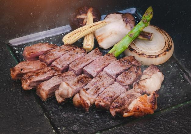 Japoński stek wołowy wagyu po teppanyaki