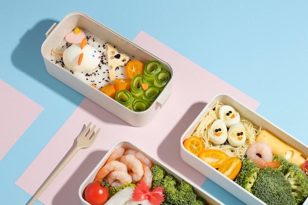 Japoński układ pudełek bento