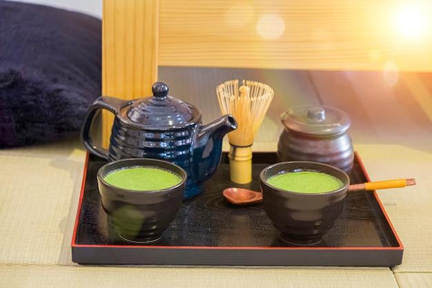Japoński zestaw do herbaty matcha green tea
