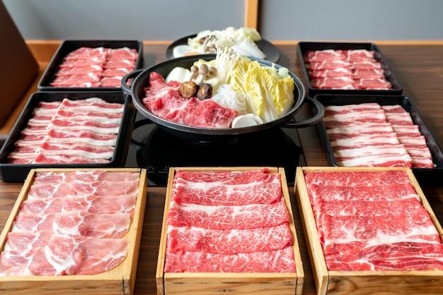 Japoński zestaw sukiyaki