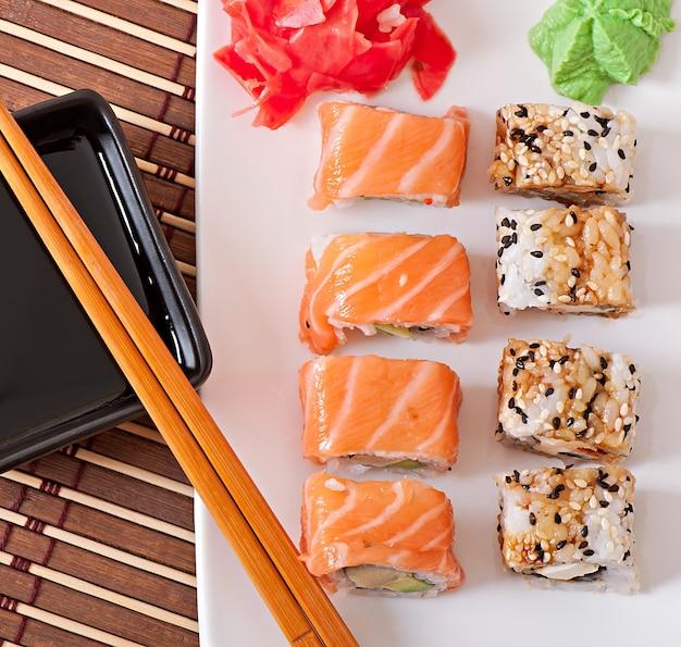 Japońskie jedzenie - sushi i sashimi