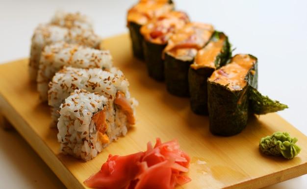 Japońskie jedzenie. sushi.