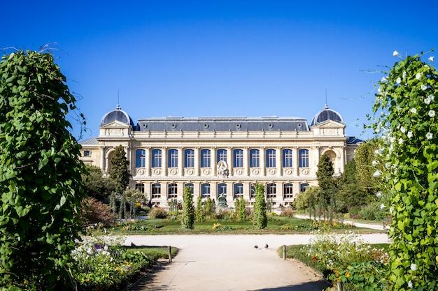 Jardin des plantes park and museum, paryż, francja