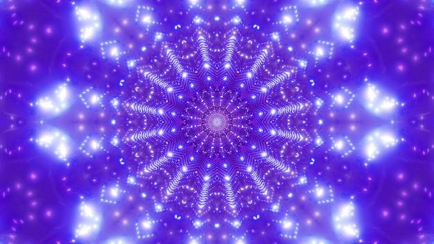 Jasna gwiazda w kształcie 4k uhd fajna grafika tunelu ilustracja 3d