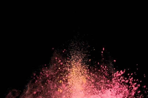 Jasna plama kolorowych drobnych cząstek