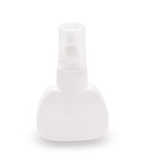 Jasna plastikowa pokrywa butelki zamknięta na białym tle