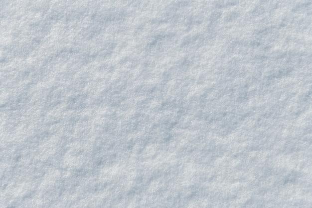 Jasna powierzchnia śniegu jako tekstura tła. widok z góry.