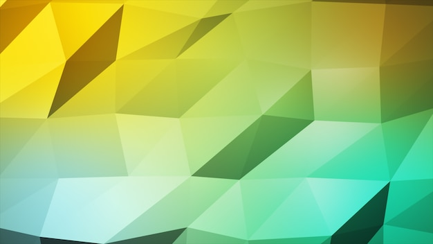 Jasna wielokolorowa ilustracja wielokąta, która składa się z trójkątów. trójkątny wzór do projektowania firmy.