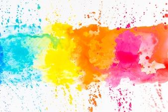 Jasne plamy barwnika na białym tle