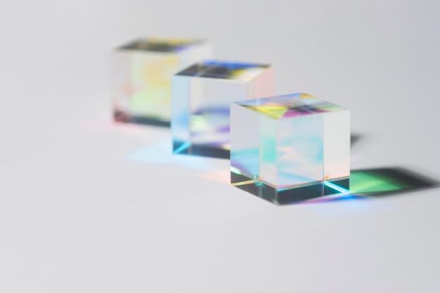Jasne pryzmaty kolorowy efekt